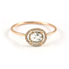 18kt Solid Pink Gold Slice Cut Diamond Ring Fine Engagement Jewelry