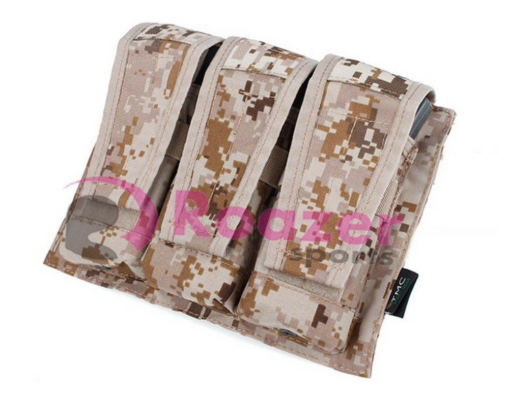 Tactical M4 Mag Magazine Pouch Bag AOR1 Camo for Paintball Airsoft