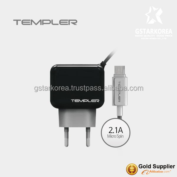 [TEMPLER] Wall Travel Charger Micro USB 2.1A Output for SmartPhone