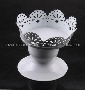 Cupcake Stand, Metal Cupcake Holder , White Cupcake Holder