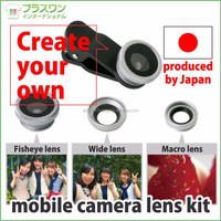Multi-functional and Original accessories mobile phone camera lens kit for ( Fisheye Wide Macro ) OEM available