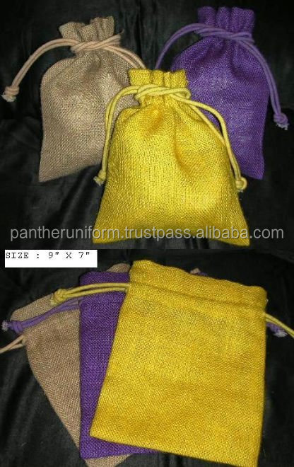 Recyclable Jute Drawstring Gift Packaging Bag