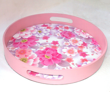 FLOWER THEME PARTY FOOD SERVICE TRAY