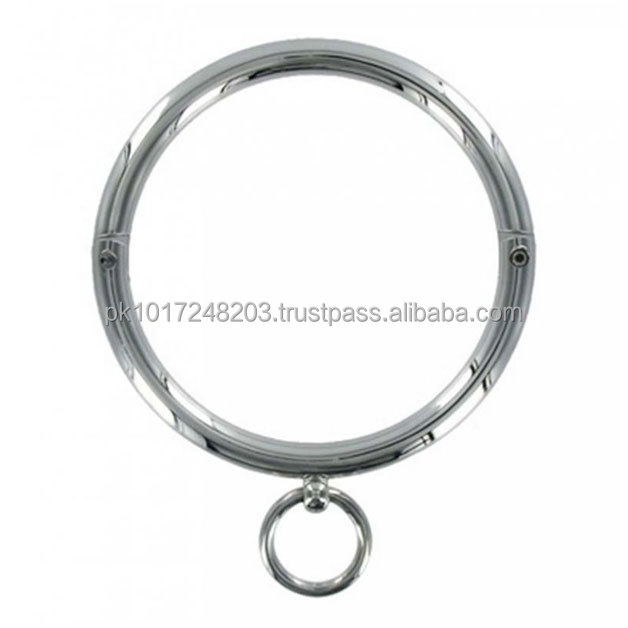 Steel Round Bar Collar With O Ring Fetish Sex Toys