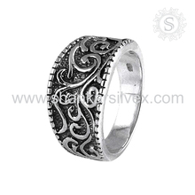 Foremost Inciso Anello Handmade 925 Sterling Silver Ring Indiano Gioielli In Argento Esportatore