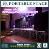 Fashion cool portable dj stage portable stage and catwalk stage portable stages kid