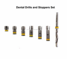 dental implantology drills and stoppers set drills stoppers set set of one drill and 6 stoppers available in all sizes