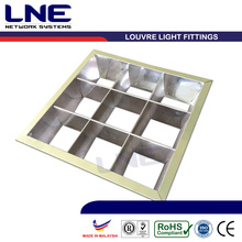 Louvre Light for T5/T8, Square Grill fitting in aluminium, various sizes