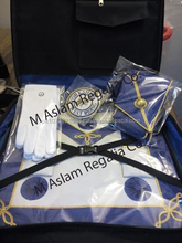 Masonic regalia Undressed Apron Set with Soft case and White cotton gloves