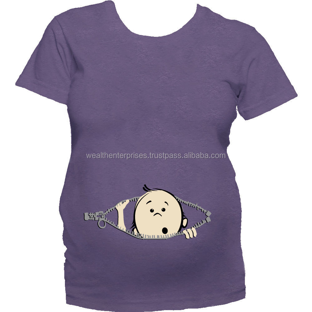 Mouse over image to zoom Women's Baby Mooning Maternity T Shirt Funny Baby Butt Pregnancy Tee