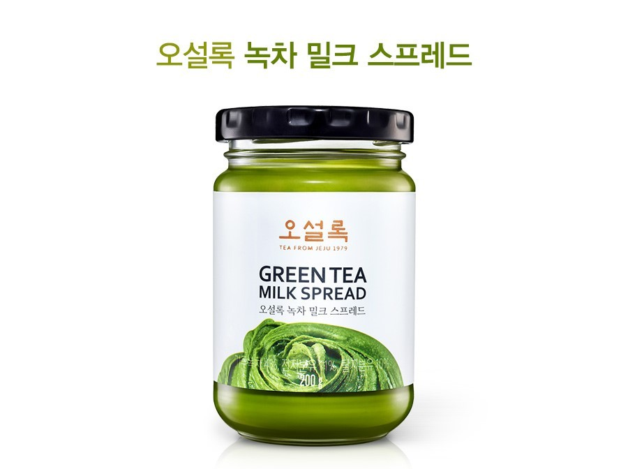 osulloc green tea milk spread