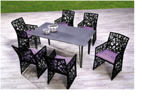 Beautiful dining set, poly rattan dining set for garden, hotel, resort