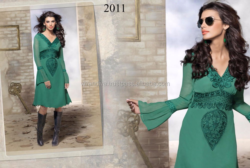 Lucknow Designer Chikan Hand Embroidered Kurti