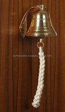Brass Nautical Ship Bell for Home , | Hanging Door Bell With Polish Lacquer Finish