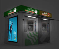 2016 NEW DESIGN DOUBLE ATM KIOSK SERIES ATM OUTDOOR CABIN ATM BOOTH Cambodia Cameroon Worldwide Central African Europe