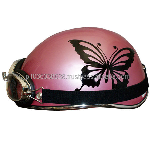 STREET BUTTERFLY2 Half type helmet with goggles GRAY BEIGE