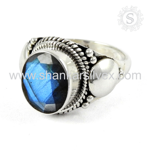 Labradorite Silver Ring 2017 Direct Factory Sale 925 Sterling Silver Ring Wholesaler Indian Silver Jewelry