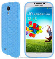 Ultra slim Honeycomb matte TPU shell case for Galaxy S4 roocase (Blue)