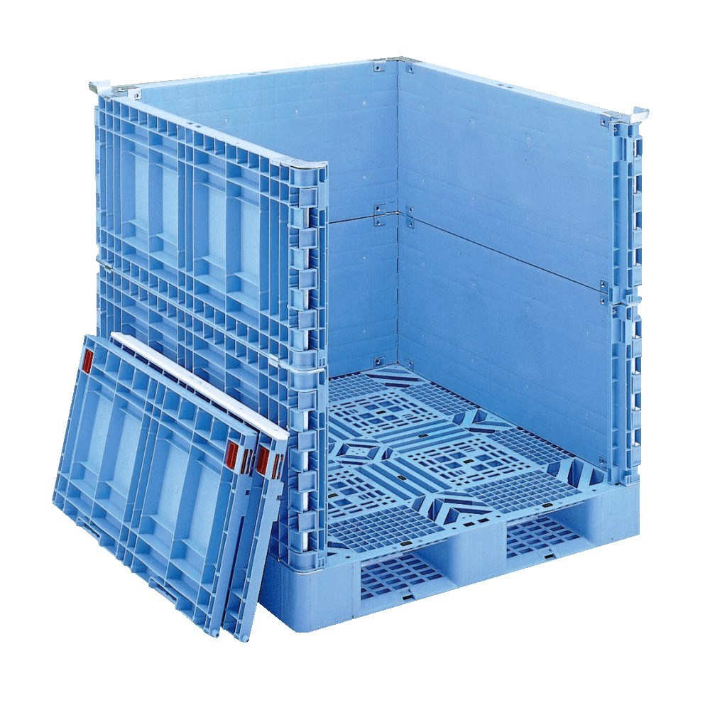 Variety of pallets with high quality and light weight by Gifu Plastic Industry. Made in Japan (steel reinforced plastic pallet)