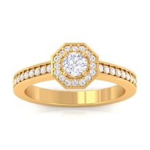 2016 Hot selling Real Diamond Engagement Ring in 14K Solid Gold