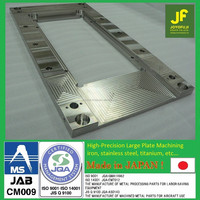 Accurate and High-precision flatness 20micron by cnc machining with multiple functions made in Japan