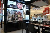 Exhibits, upscale store shelves, designed furniture, counters