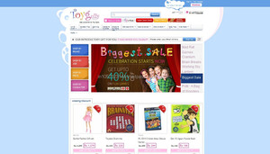 Kids and Toys E-commerce Website Design and Development, Flash Banner and Excellent Logo Design
