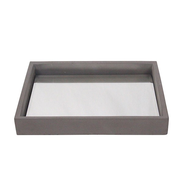 concrete homewares food safe mirrored trays