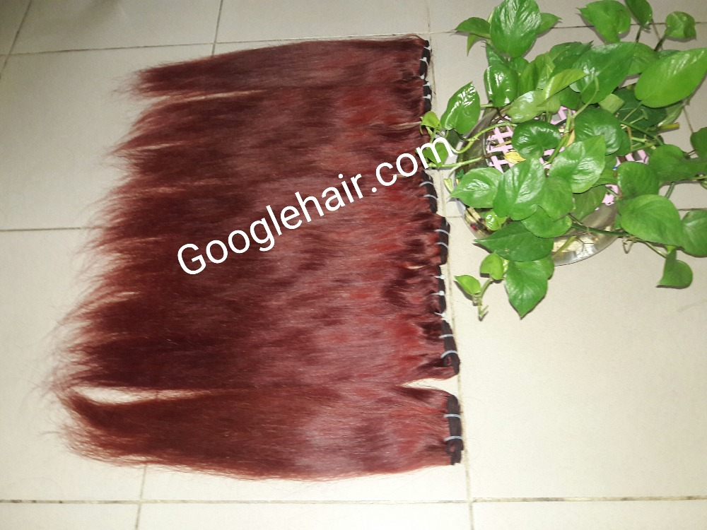 Shopping Online Hair Quality No Chemical No Dying No Tangle 100% Red Hair Extensions