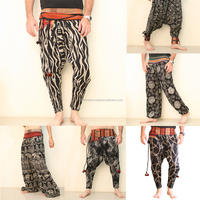Balloon Fit Pants For Men Thai Palazzo Harem Drop Crotch Pants