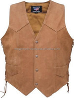 Leather Motorbike Biker Vest/Jacket/Pant/Suits/Gloves