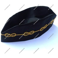 Masonic Regalia MM Hat Supplier | Master Mason Cap with Mylar Wire Chain | Masonic Hat with Mylar Wire Chain