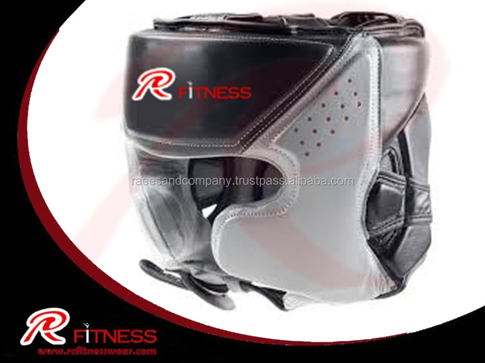 Newest wholesale boxing leather training head guard