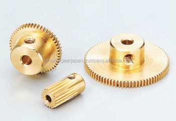 Spur gear Module 0.75 Brass Made in Japan KG STOCK GEARS