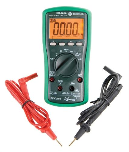 Greenlee 35756, DM-200A-C 1000V AC/DC Digital Multimeter with Certificate of Calibration