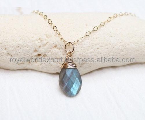 Labradorite Sterling Silver Necklace/Handmade pendant necklace/Semi precious gemstone pendant necklace
