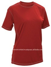 100% polyester basic ladies blank t-shirts, cheap price polyester t-shirts