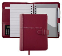 A5 Soft Leather Diary Cover / Leather Diary Cover With Calculator Holder / Diary Cover With Loose Leaf