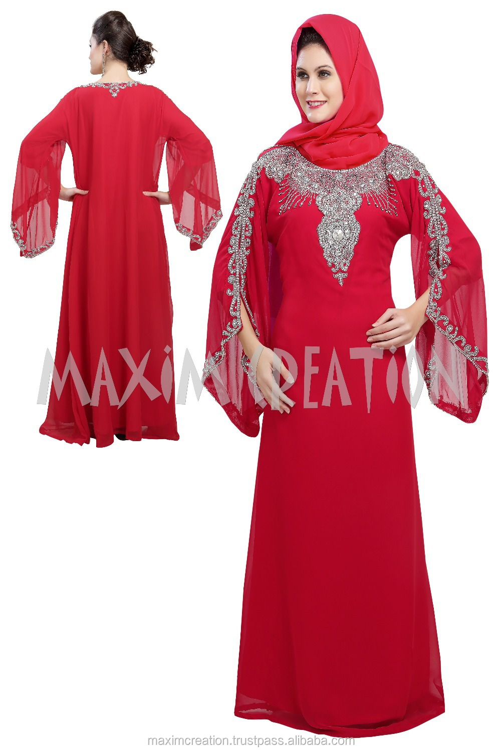 new georgette dubai kaftan dress jilbab jalabiya party