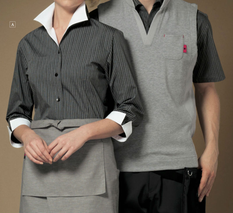 Fashionable modern design hotel receptionist uniforms by famous uniforms company in Japan
