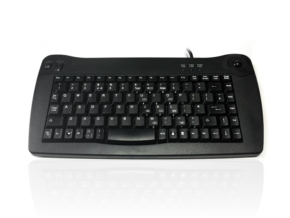 Accuratus 5010 - USB Mini Keyboard with Trackball
