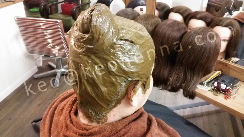 Herbal hair dying henna color