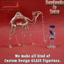 Camel and man murano glass home decoration animal figurines