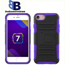 2015 factory durable 3 in 1 TPU+PC combo cell phone case for iPhone 7 holster