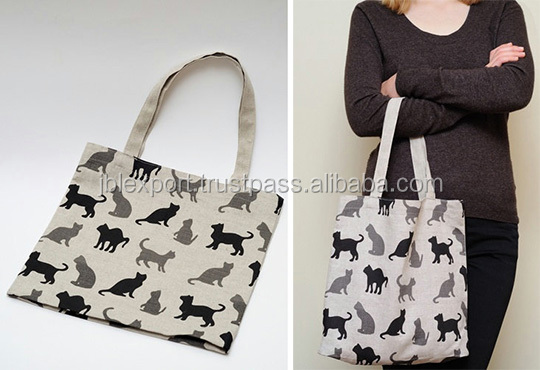 cotton canvas calico tote bag wholesale animal full print new