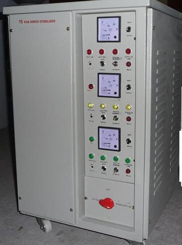 Three-Phase 15 KVA Servo Voltage Stabilizer.