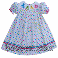 Adorable bunny hand smocked bishop dress in Easter smocked dresses collection