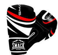 Boxing Gloves red,black and white color Fully Customized available Artificial Leather fully customized