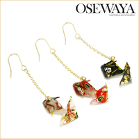 japan style gold fish charm earring osewaya quality costume jewelry