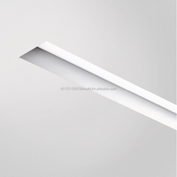 Luce al metro Recessed luminaire with LED lighting system.